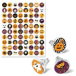 Halloween Candy Kiss Stickers - BOGO