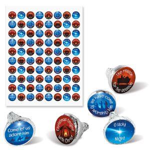 Christmas Faith Chocolate Kisses Stickers - BOGO