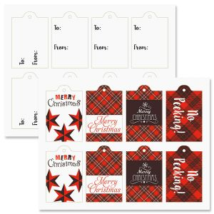 Buffalo Plaid To/From Tags