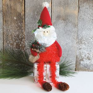 LED Light-Up Santa Shelf Sitter