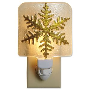 Gold Snowflake Night Light