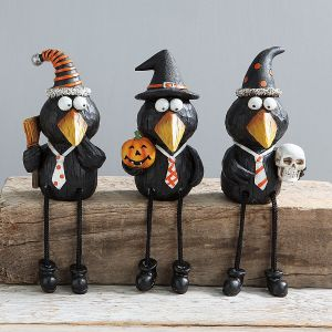 Black Crows Shelf-Sitter Figurines