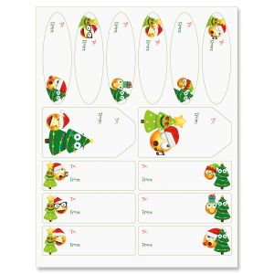 Christmas Emoji Labels