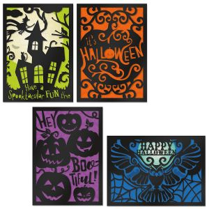 Deluxe Haunted Halloween Cards