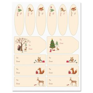 Christmas Woods Gift Labels