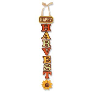 Vertical Happy Harvest Sign