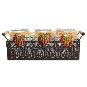 Metal Tray with 3 Jars