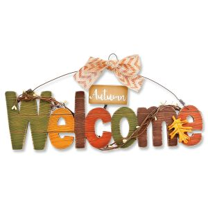 Autumn Welcome Wood Sign