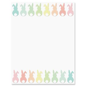 Gingham Bunnies Easter Letter Papers