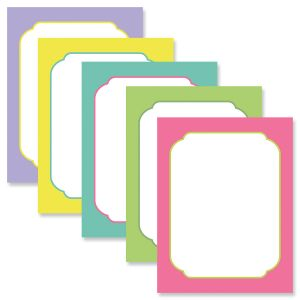 Color Borders Easter Letter Papers (5 Colors)