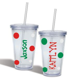 Personalized Christmas Acrylic Beverage Cups