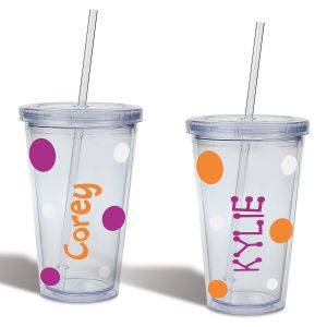 Personalized Halloween Acrylic Beverage Cups