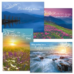 Naturescape Faith Birthday Cards and Seals