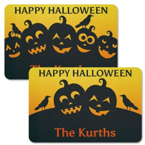 Jack-o'-Lantern Personalized Halloween Doormat