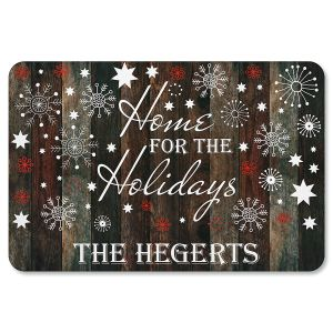 Holiday Home Personalized Christmas Doormat