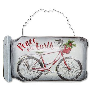 Christmas Bicycle Mason Jar Hanger