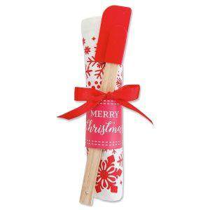 Christmas Towel and Spatula Gift Set