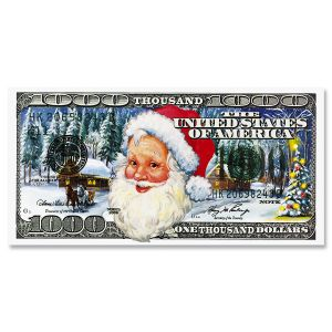 Santa Bucks Cash Holder Envelopes
