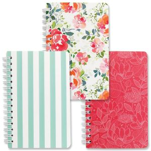 Wild Rose Spiral Notebooks - BOGO