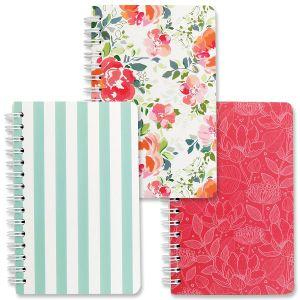 Wild Rose Spiral Notebooks - BOGO