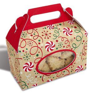 Kraft Christmas Treat Gable Boxes
