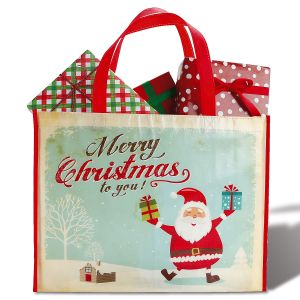 Retro Santa Shopping Bag - BOGO