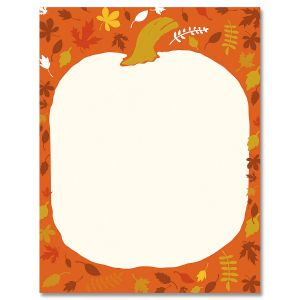 Punkin Head Halloween Letter Papers