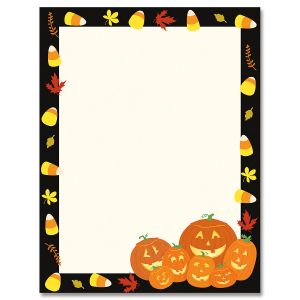 Halloween Jack Stack Halloween Letter Papers