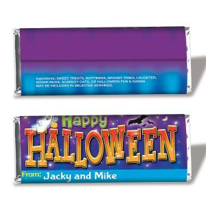 Personalized Halloween Candy Bar Wrappers
