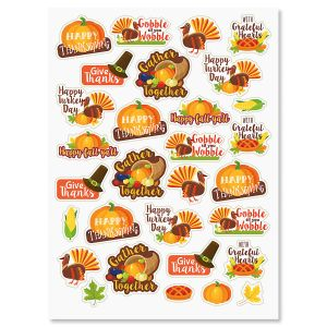 Turkey Talk Stickers - BOGO