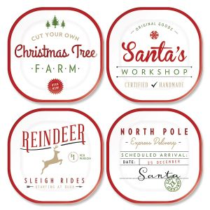 Christmas Tree Farm Hostess Set
