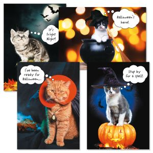 CATtitude Halloween Cards