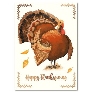 Deluxe Turkey Talk Thanksgiving Cards