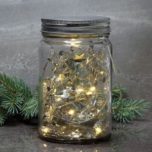 LED Jar with Stars