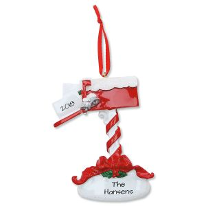 Mailbox Personalized Christmas Ornament
