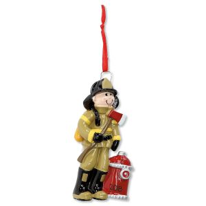 Fireman Personalized Christmas Ornament