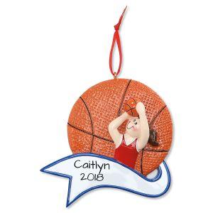 Basketball Girl Personalized Christmas Ornament
