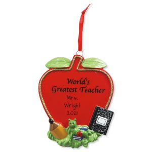 Teacher Personalized Christmas Ornament