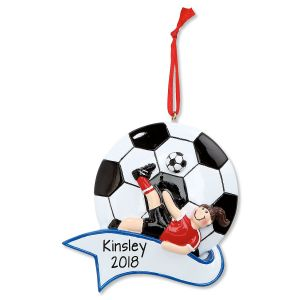 Soccer Girl Personalized Christmas Ornament