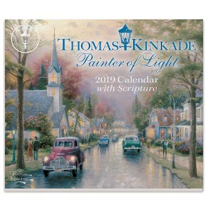 2019 Painter of Light Day-to-Day Calendar with Scripture by Thomas Kinkade