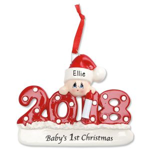 2018 Baby's 1st Personalized Christmas Ornament