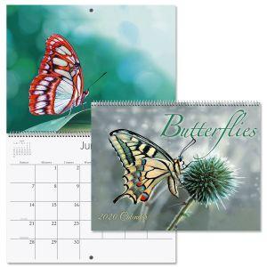 2020 Butterflies Wall Calendar