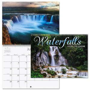 2020 Waterfalls Wall Calendar