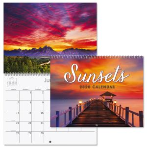 2020 Sunsets Wall Calendar