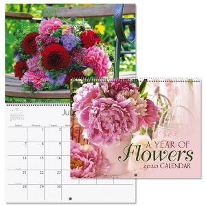 2020 A Year of Flowers Wall Calendar