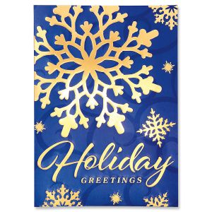Snowflake Ultra-Deluxe Christmas Cards