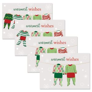 Pajama Family Christmas Cards