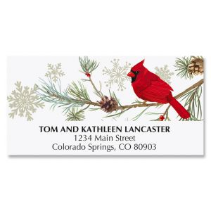 Cardinal In Snow Address Labels