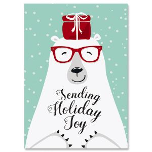Polar Bear Joy Christmas Cards