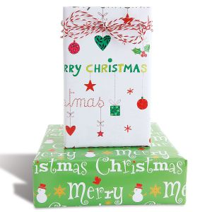 Flat Christmas Gift Wrap Sheets - BOGO